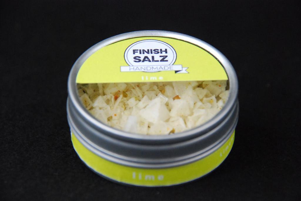 """Finish Salz """"lime"""" als Fingersalz in der 10 g Dose"""